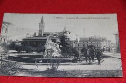 Thiene Vicenza La Fontana 1921 Ed. Zaltron Animata + Timbro Arrivo Cumiana + Strappo Al Centro - Vicenza