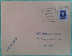Empreinte Daguin (LOR301) LORMES/CENTRE DE/TOURISME/EN MORVAN Bloc Dateur à Droite. Enveloppe De 1959 - Postmark Collection (Covers)