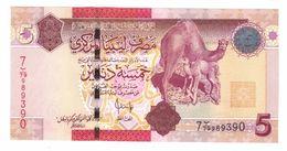 Libya 5 Dinars, P-72, UNC. - Libia