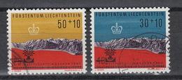Liechtenstein 353-54  (0) (1960) – Refugee Year – Vluchtelingenjaar - - Oblitérés