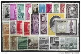 ARGENTINA, Yv 516/7, 524, 543, 546, 547A, 548A, 567/8, 570, 574, 576/7, 578A, 579, 586, 590/1, 593, 595/600, ** MNH, F/V - Unused Stamps
