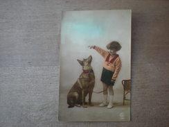 Petite Fille Donne Un Sucre à Un Berger Malinois, 1923, Timbre (D3) - Fancy Cards