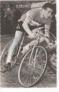 CARTE DE  GILBERT DESMET  SIGNEE SERIE MIROIR SPRINT - Cycling