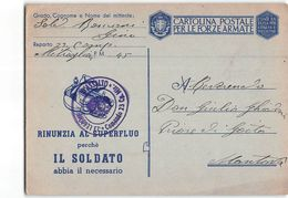 155637  FRANCHIGIA 23 LEGIONE D'ASSALTO POSTA MILITARE 45 X MANTOVA - 1900-44 Vittorio Emanuele III