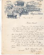 94 Vitry Sur Seine- Entreprise De Transports CH PRUDHOMME Rue St Aubin,  TB Illustration.lettre De 1911. Tb état. - 1900 – 1949
