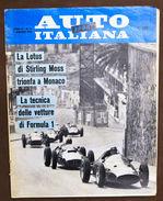 Rivista Automobilismo Auto Italiana Sport  N° 11 - 1960 - Lotus - Stirling Moss - Books, Magazines, Comics