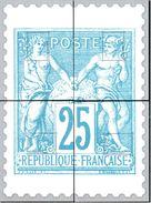 Série 4 Feuillets Gommés Type Sage - Documents De La Poste