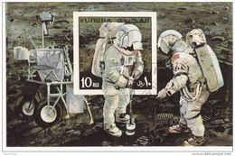 Bf. 48A Fujeira 1971 Apollo XIV Astronauti Sulla Luna Moon Sheet Perf. - FDC & Commemoratives