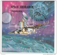 1326 Tanzania 1994  Space Esplorazione Spazio Satellite Fobos Rocket Sheet Perf. - FDC & Commemoratives