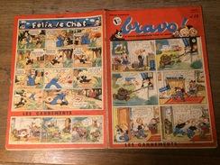 REVUE JOURNAL HEBDOMADAIRE BRAVO 1941 28  HISTOIRE L ARROSOIR DE SAINT MEDARD LE BAL DES FLEURS CHATEAU DE VITANVALIE - Zeitschriften & Magazine