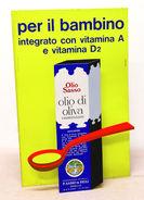 Pubblicità POP-UP Alimentari - Studio Testa - Olio Di Oliva Sasso 1960 Ca. RARO - Advertising