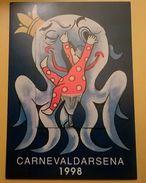 CARTOLINA POSTCARD NUOVA CARNEVALE VIAREGGIO 1998 CARNEVALDARSENA - Viareggio