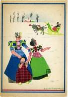 CORRIE HAZENDONK  Spakenburg  Signore Con Bimba  Slitta Con Cavallo - Illustratori & Fotografie