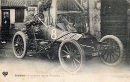 Bianchi (Angleterre) Sur Sa Wolseley  - Grand Prix De L'ACF 1908 - Circuit De Seine-Inférieure - CPA - Grand Prix / F1