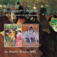 TOGO 2014 - Art, Tableaux, œuvres De Henri Toulouse-Lautrec - Feuillet 2 Val Neuf // Mnh - Togo (1960-...)