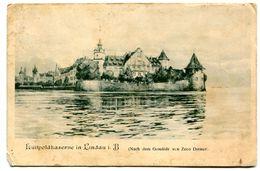 Postkarte Luitpoldkaserne In Lindau Baviera Deutschland 1908 Gesendet Esperanza Argentina - Lindau A. Bodensee