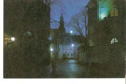 K2 Latvia SSR USSR Soviet Postcard Riga At Night Vestures Street Strasse Photo By Balodis - Latvia