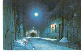 K2. Latvia SSR USSR Soviet Postcard Riga At Night Aldaru Street Strasse Photo By Balodis - Latvia