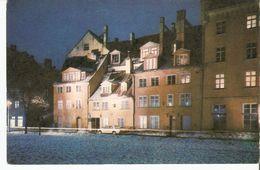 K2. Latvia SSR USSR Soviet Postcard Riga At Night Square In Meistaru Street Strasse Photo By Balodis - Latvia