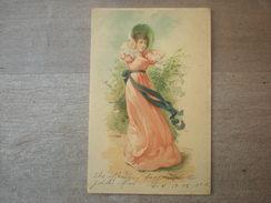 Jeune Femme En Habit Au Vent, 1902,  Timbre (E3) - Femmes