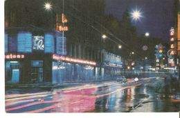 K2. Latvia SSR USSR Soviet Postcard Riga At Night Suvorova Street Strasse Photo By Balodis - Old Car - Latvia