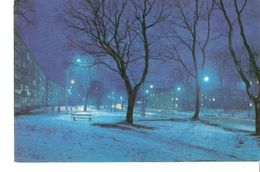 K2. Latvia Latvian SSR USSR Soviet Postcard Riga At Night Dzirciema Street Strasse Photo By Balodis - Latvia
