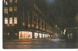 K2 Latvia Latvian SSR USSR Soviet Postcard Riga At Night Central Department Shop Das Zentrale Warenhaus Photo By Balodis - Latvia