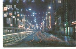 K2 Latvia Latvian SSR USSR Soviet Postcard Riga At Christmas At Night Lenin Street Leninstrasse Photo By Balodis - Latvia