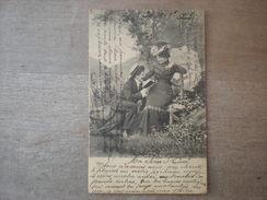 Homme Fait La Lecture à Sa Dame Assise Au Bois, 1902,  Timbre (E3) - Couples