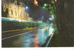 K2 Latvia Latvian SSR USSR Soviet Postcard Riga At Night Raina Boulevard Rainis-Boulevard Photo By Balodis - Latvia