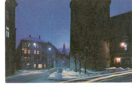 K2 Latvia Latvian SSR USSR Soviet Postcard Riga At Night Powder Tower Pulverturm Photo By Balodis - Latvia