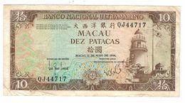 Macau 10 Patacas 1984, VF. - Macau