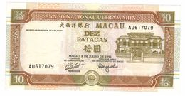 Macau 10 Patacas 1991,  UNC. - Macau