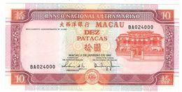 Macau 10 Patacas 2001,  UNC. - Macau