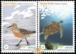 Uruguay. 2013. Tourist Destinations (MNH OG **) Block Of 2 Stamps - Uruguay