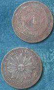 M_p> Uruguay 4 Centesimos 1869 H Bei Rilievi - Uruguay