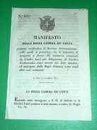 Decreto Regno Sardegna Torino Manifesto Indennità Trasporto Testimoni 1841 - Old Paper