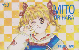 Télécarte Japon / 110-011 - MANGA - FRIEND By MITO ORIHARA - ANIME Japan Phonecard - BD COMICS Telefonkarte - 9633 - BD