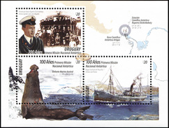 Uruguay. 2016. The 100th Anniversary Of The First National Antarctic Mission (MNH OG **) Souvenir Sheet - Uruguay
