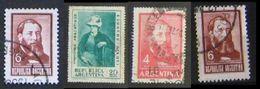 Argentina 1968 Jose Hernandez & Eduardo Sivori 4 Stamps - Argentina