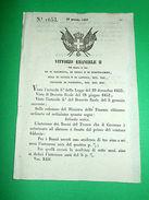Decreti Regno Sardegna Torino Interesse Dei Buoni Del Tesoro 1854 - Vieux Papiers