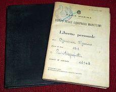 Collezionismo Marina - Libretto Telegrafista Ramonda Maurizio - 1938 Ca. - Vecchi Documenti