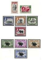 INDIAN STATES, Bahawalpur, Yv 16/21, 26/29; SG 33/34, 39/46, ** MNH, F/VF - Bahawalpur