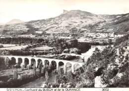 CPM - 04 - SISTERON - Confluent Du BUECH Et De La DURANCE - Sisteron