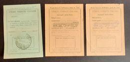 Ferrovie - Lotto Scontrini Biglietti Ferroviari - 1941 Ca. - Vecchi Documenti