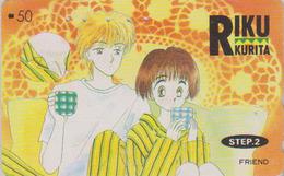 Télécarte Japon / 110-011 - MANGA - FRIEND By RIKU KURITA * STEP 2 * - ANIME Japan Phonecard - BD COMICS TK - 9638 - BD