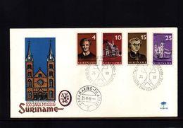 Suriname 1966 Interesting Churches Cover - Eglises Et Cathédrales