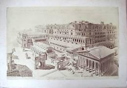 * 4 Foto Ricostruzione Monumenti Roma Archeologia 1891 - Fotografia