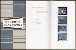 """Bund : Minister Card - Ministerkarte Typ III, Mi-Nr. 417-20: """" Landeshauptstadt Hamburg, Kiel, München, Wiesbaden """"  R X - [7] République Fédérale"""