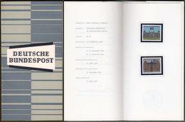 "Bund : Minister Card - Ministerkarte Typ III, Mi-Nr. 421-22: "" Landeshauptstadt Berlin, Mainz "" !  R      X - BRD"
